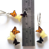 butterfly pendant earrings jewelry set