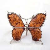 natural baltic amber butterfly ring