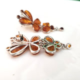 Butterfly Honey Amber & Sterling Silver Earrings
