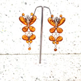 large long butterfly earrings