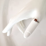 Amber Sterling Silver Thumb Chain Ring