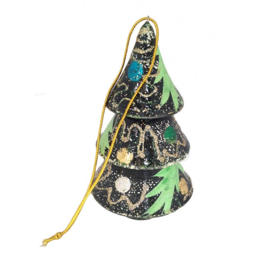 Christmas Tree Hand Painted Russian Ornament