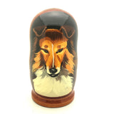 "Collie dog Nesting Doll Set 4""H"
