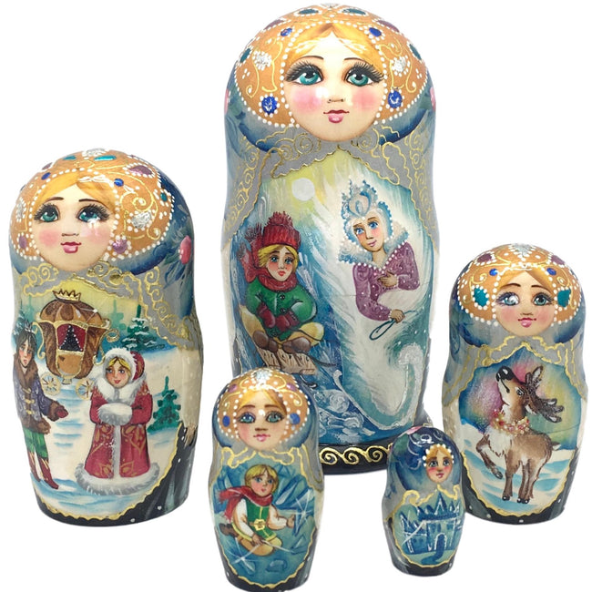 Snow Queen nesting doll set