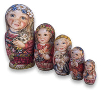 Russian children authentic nesting dolls