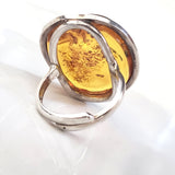 light amber modern ring