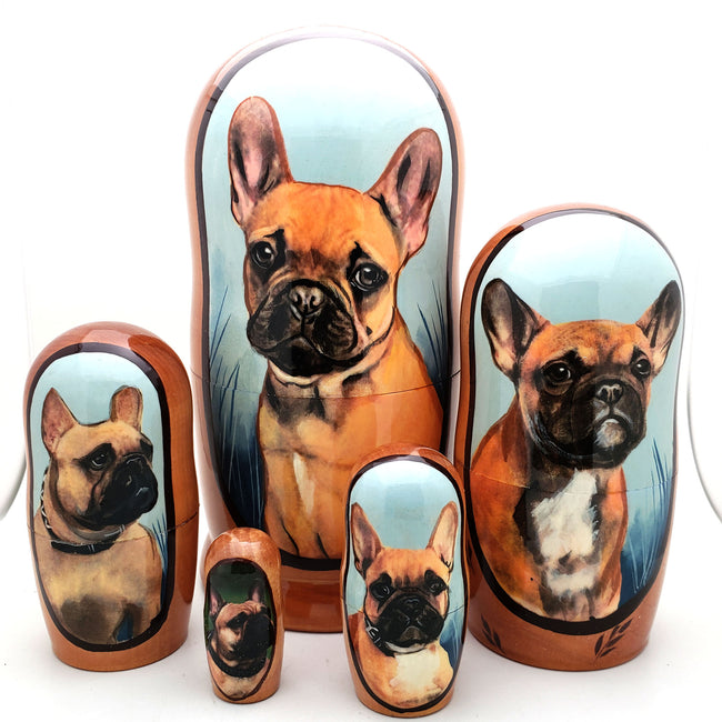 French Bulldog Dog Breed Nesting Doll Set 7
