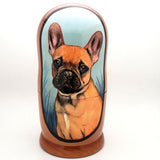 "French Bulldog Dog Breed Nesting Doll Set 7"" Tall"