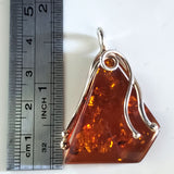 triangle natural amber pendant