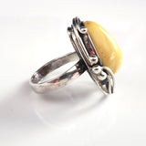 sterling silver Baltic yellow amber