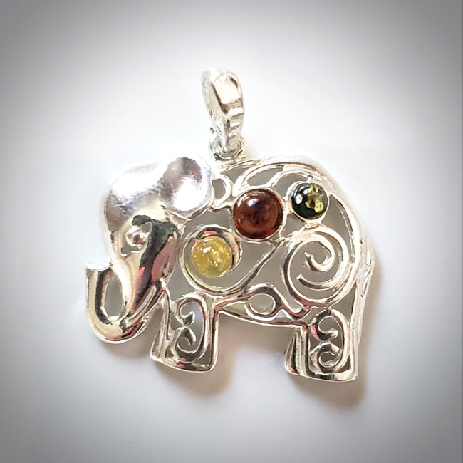 happy elephant pendant