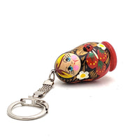 buyrussiangifts-store - Traditional Russian Keychain Strawberry and Ladybug Matryoshka - BuyRussianGifts Store - Souvenirs