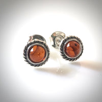small amber stud earrings