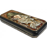 buyrussiangifts-store - Lacquer Box Night Rest Inspired by Mucha - BuyRussianGifts Store - Lacquer Boxes