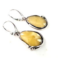 butterscotch amber long earrings