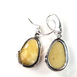 butterscotch amber earrings with leverback
