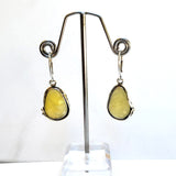 Large Butterscotch Amber Earrings