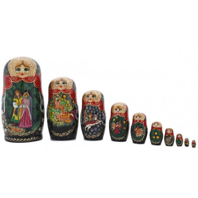 buyrussiangifts-store - Firebird 10 Piece Nesting Fairy Tale Doll Set - BuyRussianGifts Store - Nesting doll
