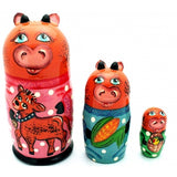 Happy Cow Nesting Doll