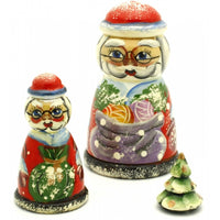 Mr and Mrs Claus Nesting Doll Set