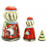 buyrussiangifts-store - Mr and Mrs Claus Nesting Doll Set - BuyRussianGifts Store - Nesting doll
