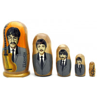 "buyrussiangifts-store - Beatles Band Nesting Doll Set 4"" Tall - BuyRussianGifts Store - Nesting doll"