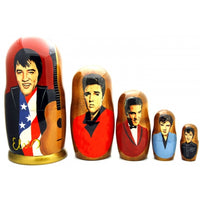 "buyrussiangifts-store - Elvis Presley Nesting Doll Set 7""Tall - BuyRussianGifts Store - Nesting doll"