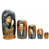 "buyrussiangifts-store - Rolling Stones Nesting Doll 7"" Tall - BuyRussianGifts Store - Nesting doll"