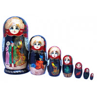 buyrussiangifts-store - Ivan Tsarevich and Firebird Doll 7 Piece Set - BuyRussianGifts Store - Nesting doll