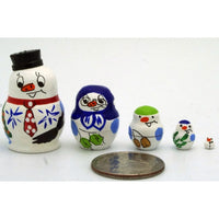 buyrussiangifts-store - Snowman Miniature Nesting Doll - BuyRussianGifts Store - Nesting doll