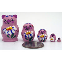 Happy Pig Miniature Nesting Doll