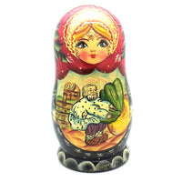 buyrussiangifts-store - Turnip 5 Piece Folk Tale Nesting Doll - BuyRussianGifts Store - Nesting doll