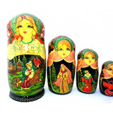 buyrussiangifts-store - Ivan Tsarevich and Gray Wolf 10 piece Fairy Tale Nesting Doll Set - BuyRussianGifts Store - Nesting doll