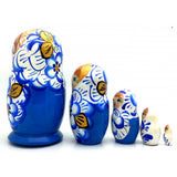 "buyrussiangifts-store - Blue with Gold Crown Doll Set 5""Tall - BuyRussianGifts Store - Nesting doll"