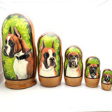 "Boxer Nesting Doll Set 7"" Tall"