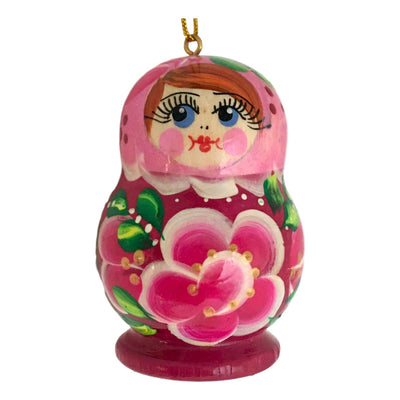 Pink Russian Matryoshka Christmas Decoration