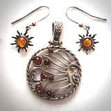 celestial sun moon jewelry set