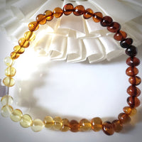multicolor amber stretchable bracelet