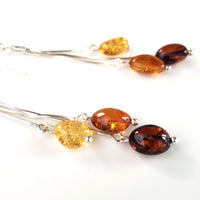 multicolor amber bears earrings