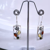 rose lovers silver earrings