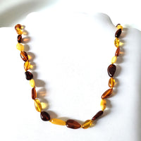 Multicolor Natural Baltic Amber Beads Necklace