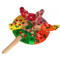 MultiColor Chicken Picking Paddle Toy