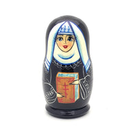 nun nesting dolls stacking set