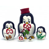 Penguin in Red Hat Miniature Nesting Doll