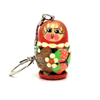 buyrussiangifts-store - Red Blue Strawberry Nesting Doll Keychain - BuyRussianGifts Store - Souvenirs