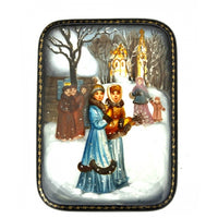 buyrussiangifts-store - Sunday Morning in Russian Village - BuyRussianGifts Store - Lacquer Boxes