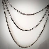 sterling silver foxtail square chain