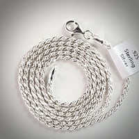 Sterling Silver Italian Rope 2.2mm Chain