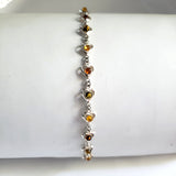 multicolor  amber small hearts bracelet