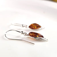 classic amber earrings